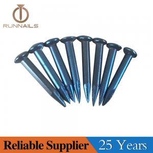Blue Concrete Steel Nail with Round Cut and Sharp Point--25 Years