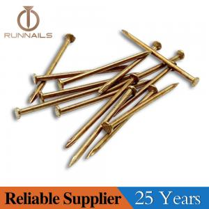 Copper Plated Concrete Nails with Flat Head or Lost Head, Copper Surface, Strong Rust Proof, Small Box Packing, Zhejiang Plant